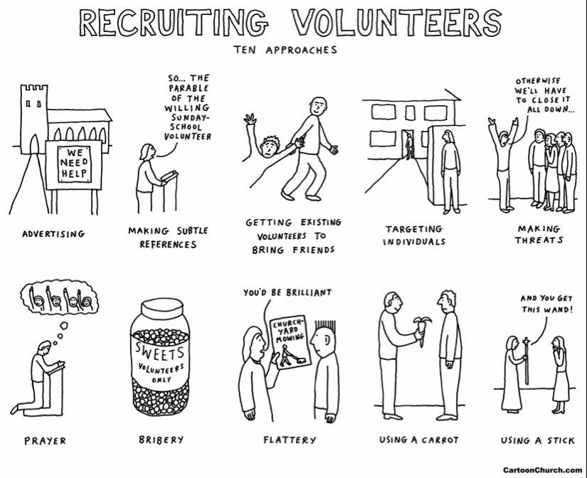 cartoon volunteering