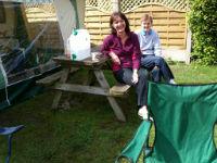 Rev Jane camping