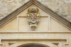 The motto above the entrance to Edmund Hall