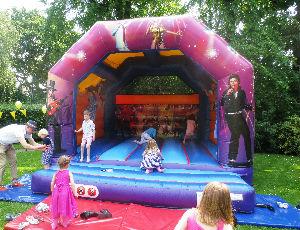 bouncy in garden
