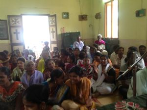 The Kunnam people in the Hall they use for worship.