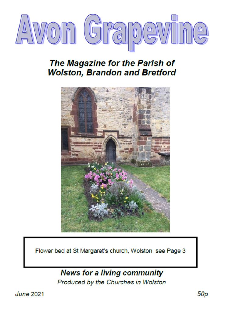 The front cover of the Avon Grapevine, June 2021