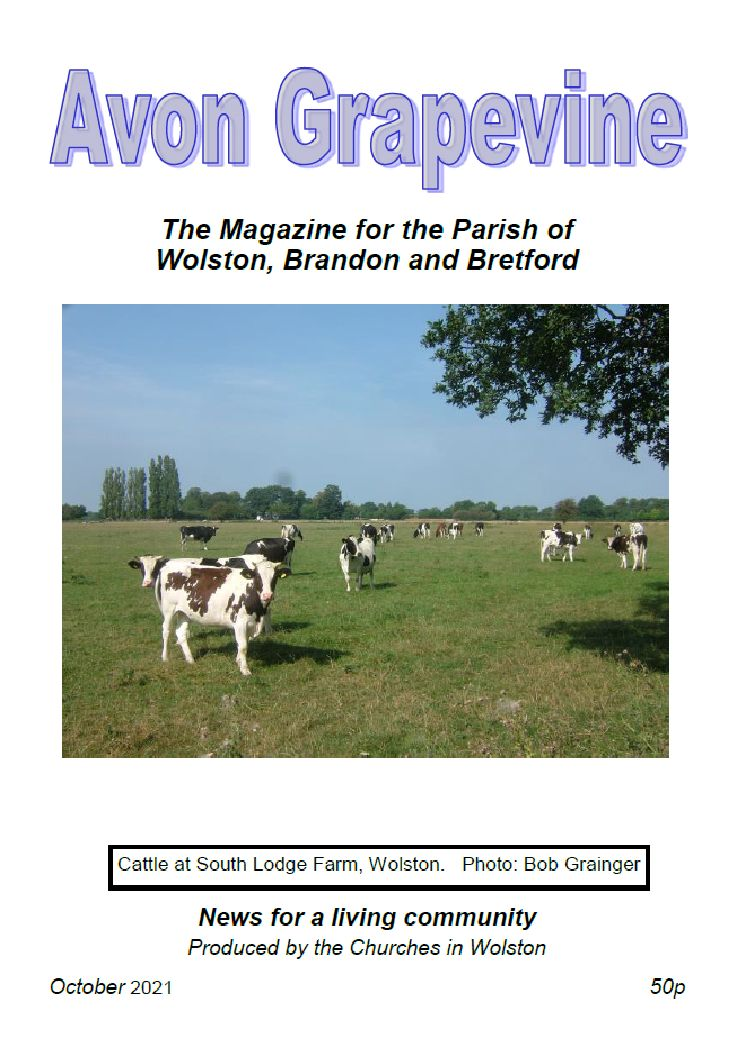 The front cover of the Avon Grapevine, October 2021