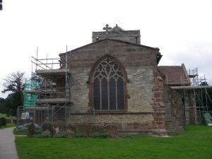 View of church from gate with scaffolding jpg.jpg