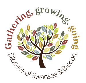 Diocesan logo - tree, which says Gathering, growing ,going