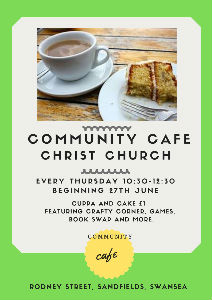 community cafe poster