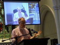 Bob preaching