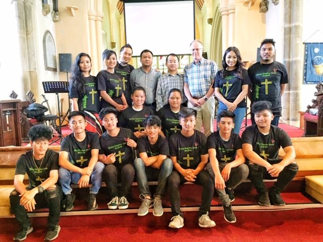 Youth, elders and deacons in new t-shirts