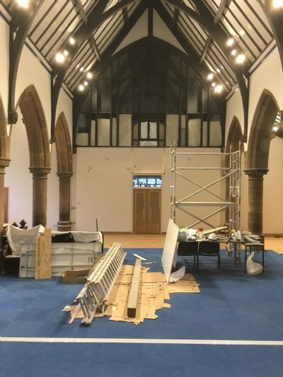 Works nearing a close in the Nave