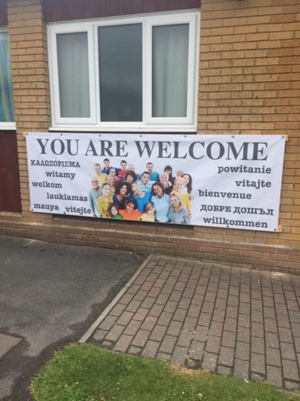 Outside welcome