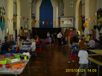 Inside the church at Holiday Club