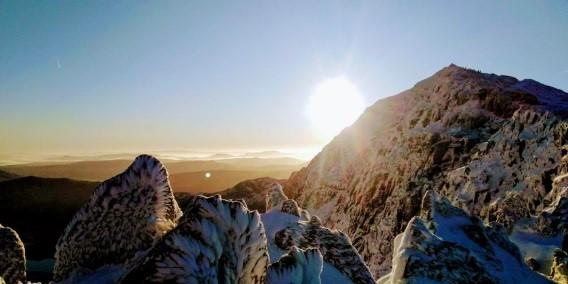 sunrise on snowdon