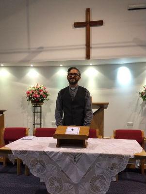 Rev Paul at High Cross