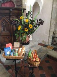 Harvest display at Milton