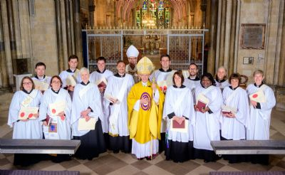 Torhild with her fellow Ordinands