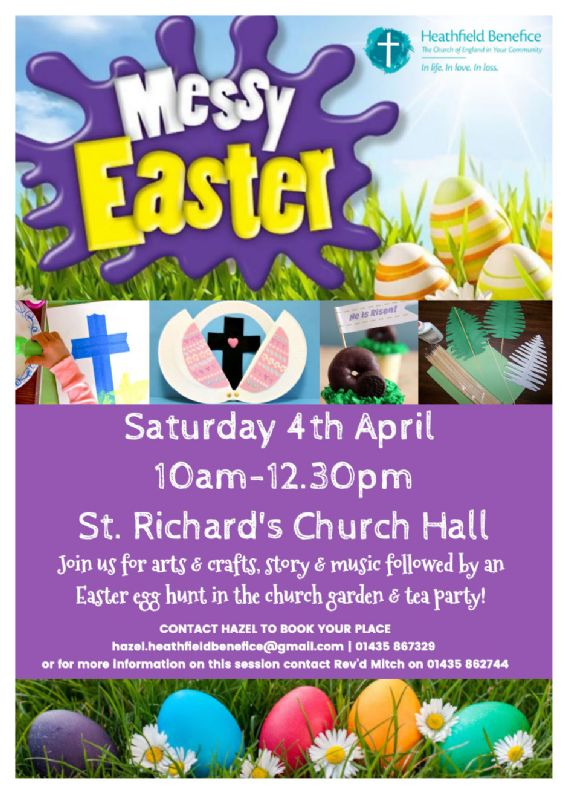 Messy Easter poster