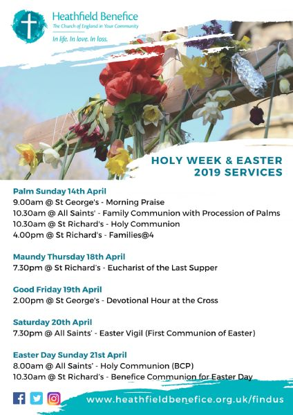 Holy Week & Easter 2019 Services
