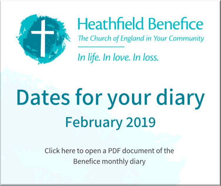 Dates for your Diary - February