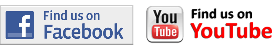 Facebook and You Tube icons