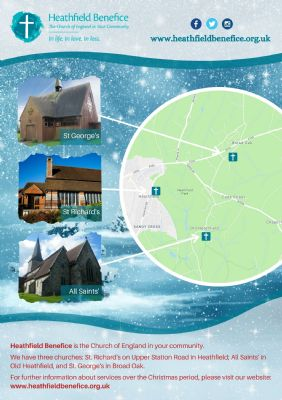 Christmas Service map of churches