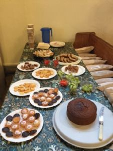 Food prepared for Families at 4 by Mothers' Union