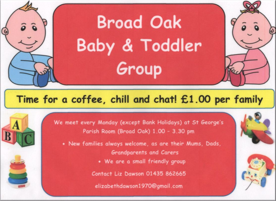 Broad Oak Baby and Toddler group poster