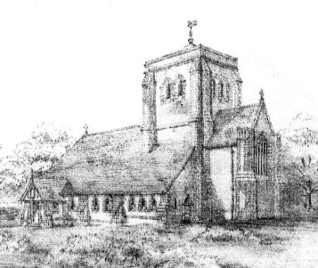 Streatfield's proposed design of St Richard's Church