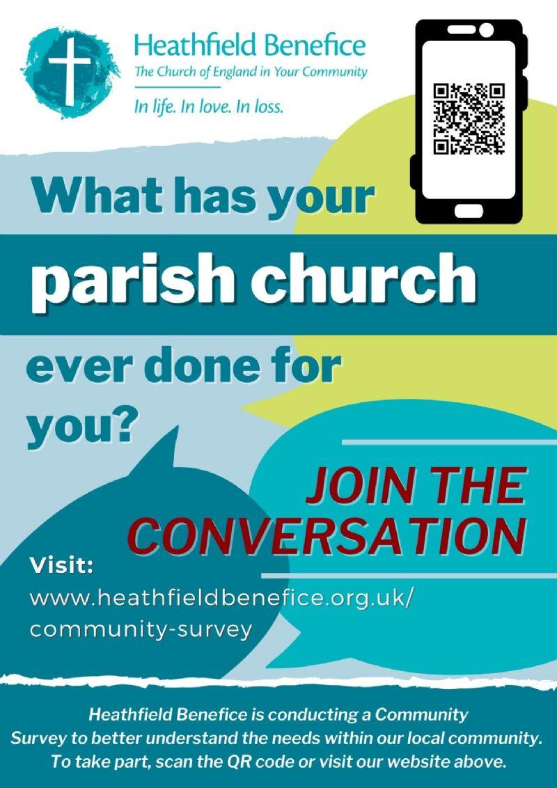 Community Survey poster