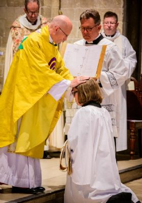Torhild ordained as Deacon by Bishop Martin