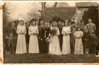knapp family wedding 1944