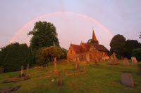 rainbow over all saints