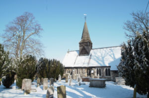 all saints in the snow Feb 2018