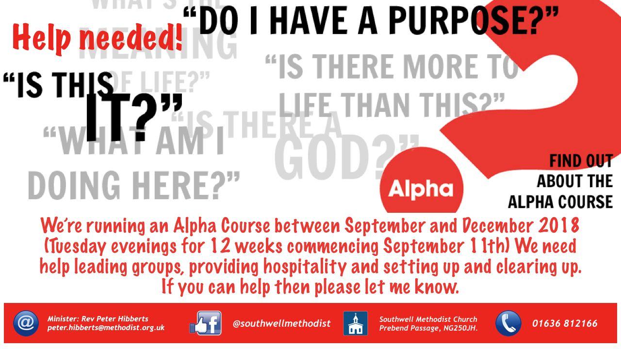 Alpha Help Flyer
