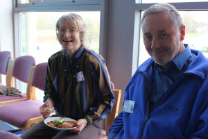 Lay Chair, Shirley and previous Area Dean, Richard