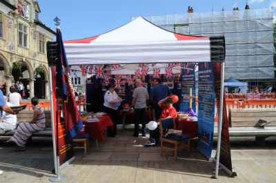 The gazebo on Armed Forces Day 2015