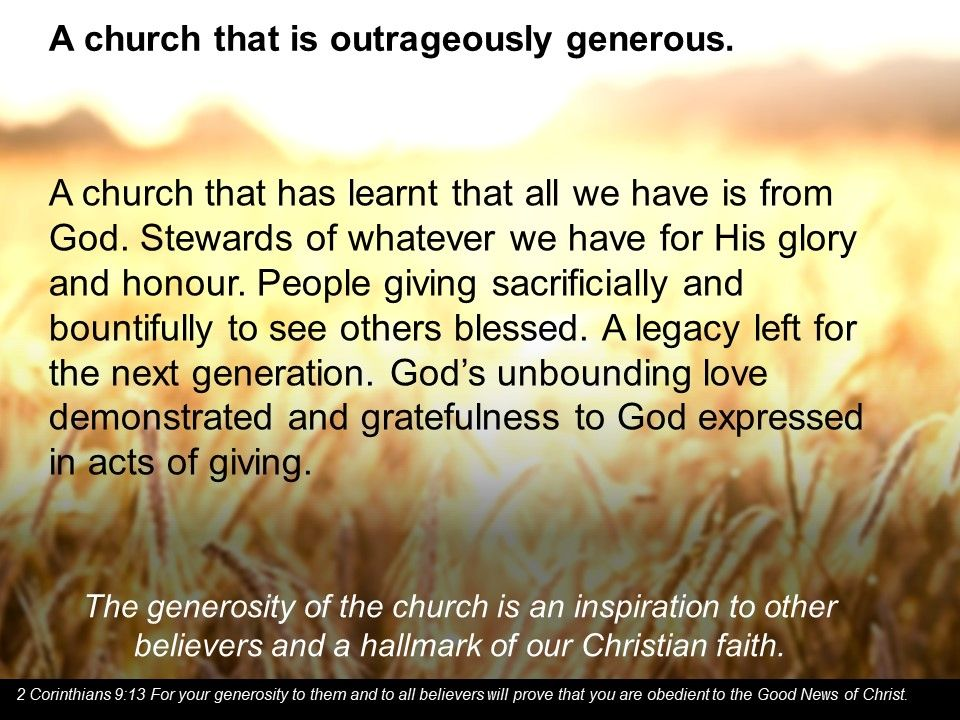 A church that is generous