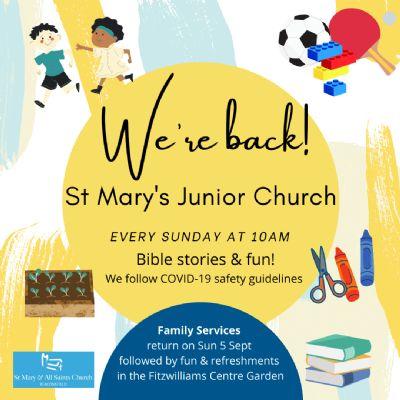 St Mary's Junior Church 2021