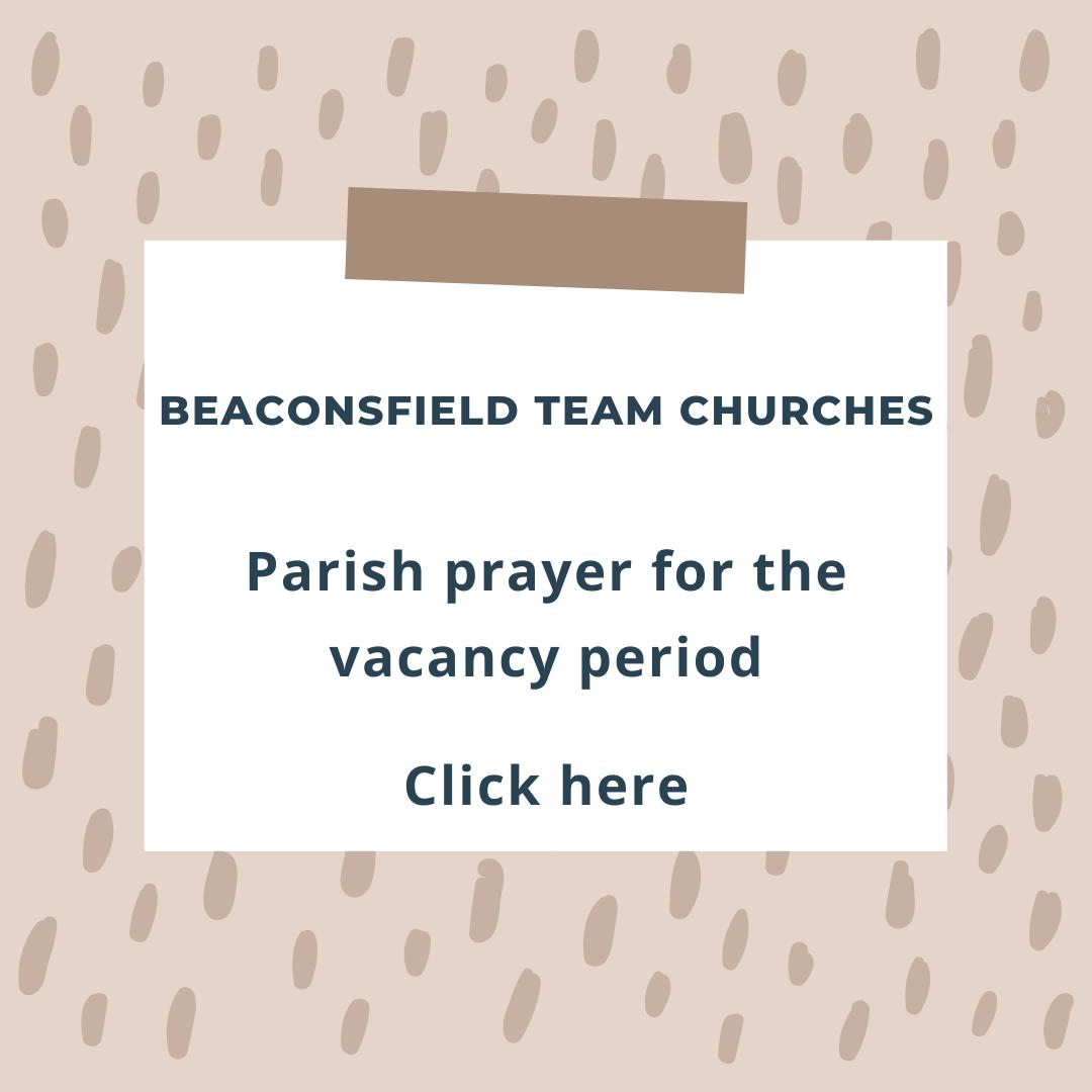 Parish prayer for the vacancy period