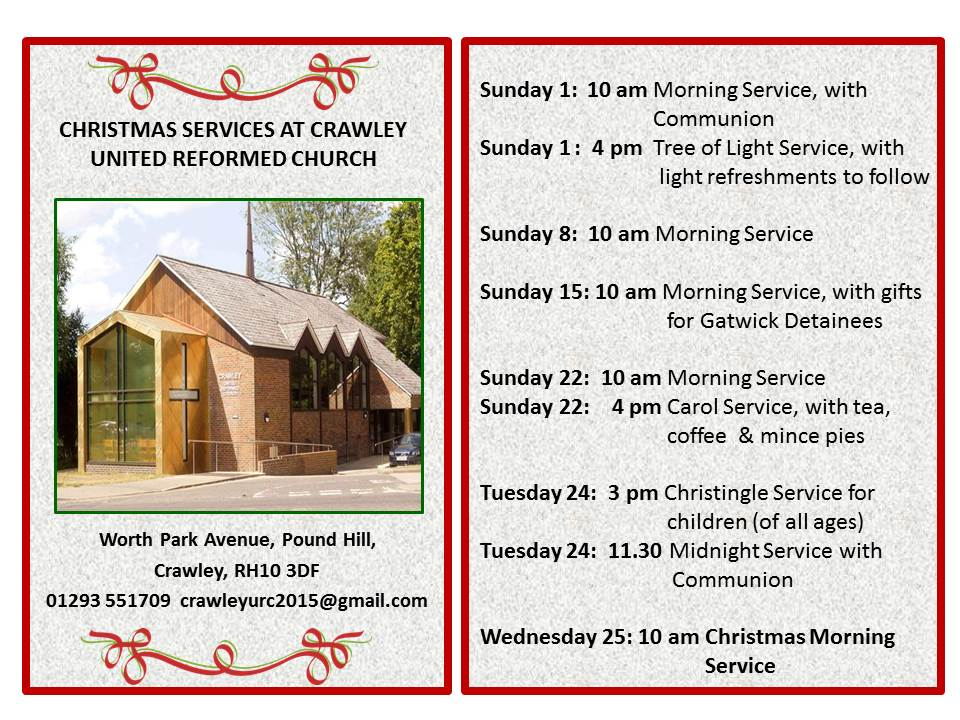 Christmas 2019 services