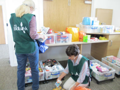 Foodbank packers