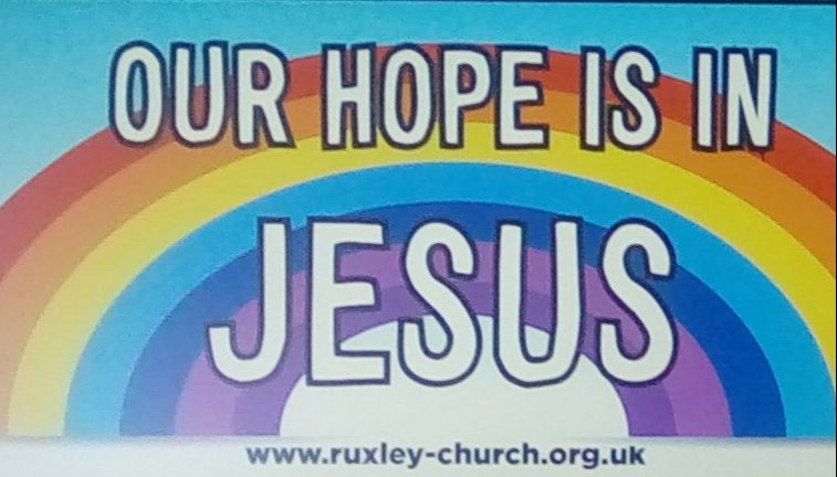 our hope is in Jesus - banner