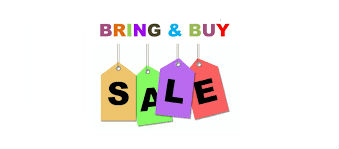 bring and buy sale coloured sign