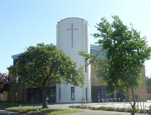 sunnier photo of church building
