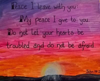 painting, peace I leave with you