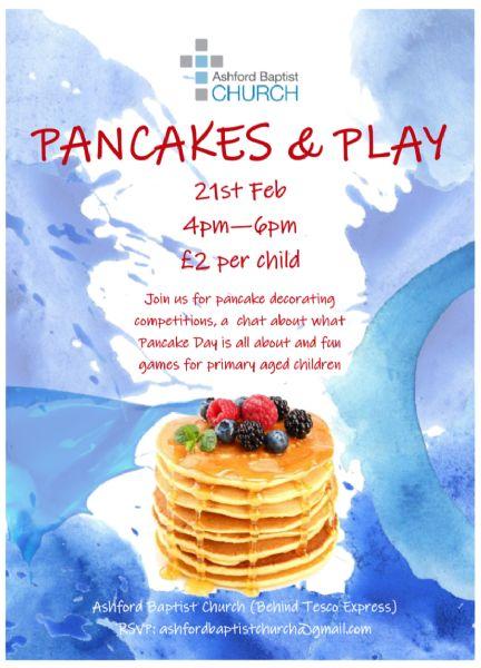 Pancake Party Poster