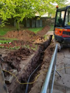 The trench for the gas main