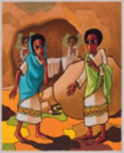 7 I have seen the Lord The women discover the tomb is empty tomb. He is risen! based on John 20.11-18
