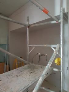 This is where the kitchen units will go