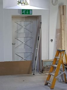 The South Door begins to look as though it has always been there