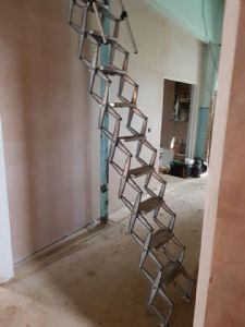 The loft ladder to get to the balcony for storage ONLY - just in case you had other ideas.....